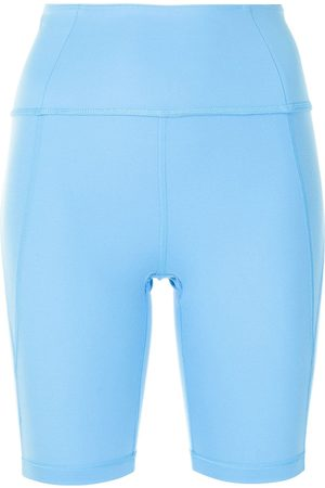 GIRLFRIEND COLLECTIVE Shorts de ciclismo con tiro alto