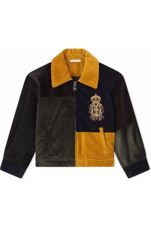 Dolce & Gabbana Chamarra de pana con diseño color block
