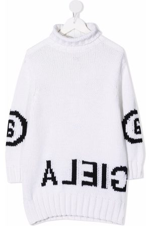 MM6 KIDS Logo knit dress