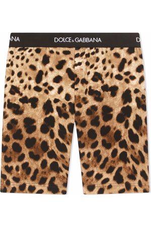 Dolce & Gabbana Shorts de ciclismo con estampado de leopardo