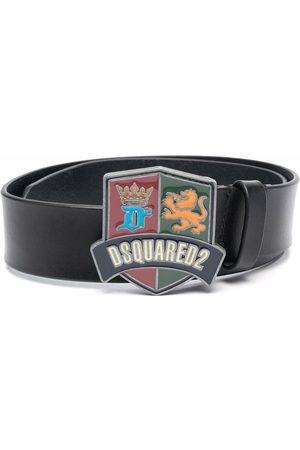 Dsquared2 Logo-buckle leather belt