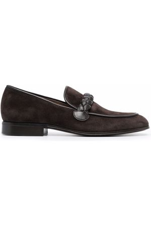 Gianvito Rossi Massimo braid-embellished suede loafers