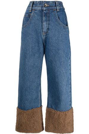 Opening Ceremony Jeans rectos con tobillos en contraste