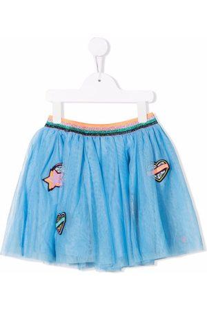Billieblush Patch-detailed tulle miniskirt