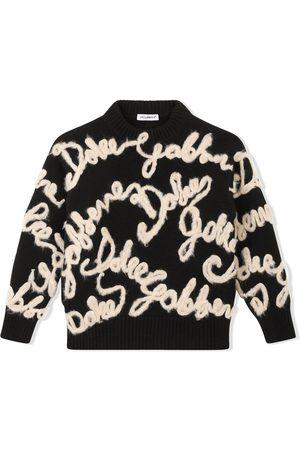 Dolce & Gabbana Niño Suéteres - Suéter con logo bordado