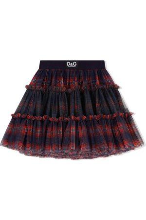 Dolce & Gabbana Falda de tul a cuadros tartán