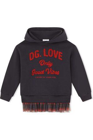 Dolce & Gabbana Hoodie con ribete a cuadros tartán