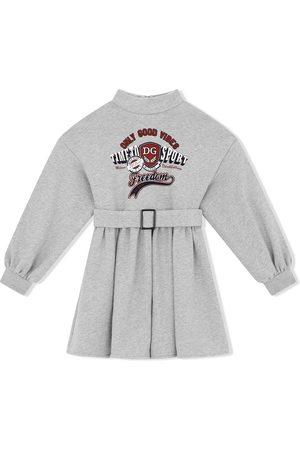 Dolce & Gabbana Vestido manga larga con cinturón