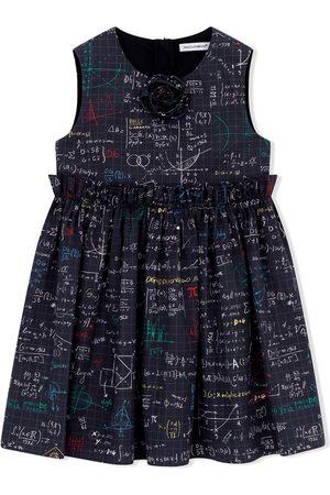 Dolce & Gabbana Niña Estampados - Vestido con estampado de álgebra