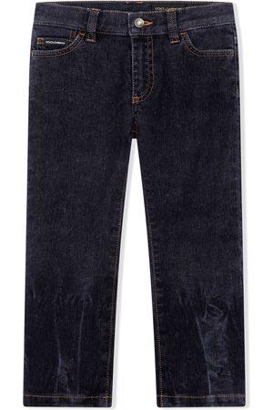 Dolce & Gabbana Niño Jeans - Jeans rectos con efecto degradado
