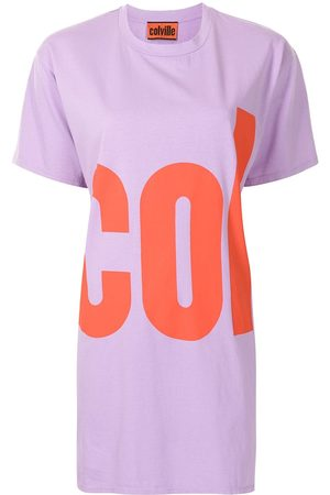 Colville Mujer Casuales - Logo print cotton T-shirt dress