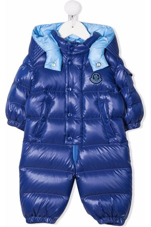 Moncler Logo patch padded suit