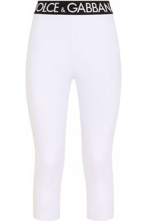 Dolce & Gabbana Logo-waistband cropped leggings
