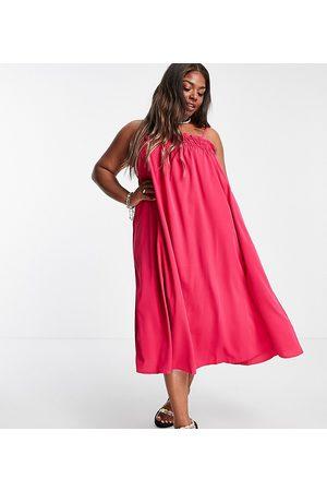 Lola May Lola May Plus floaty cami maxi dress
