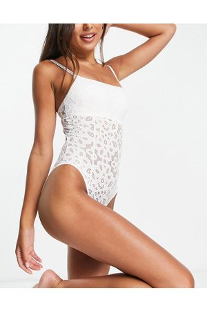 Gilly Hicks Lace bodysuit in cream