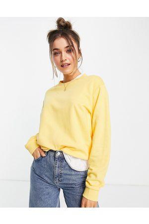 ASOS Ultimate organic cotton sweatshirt in lemon