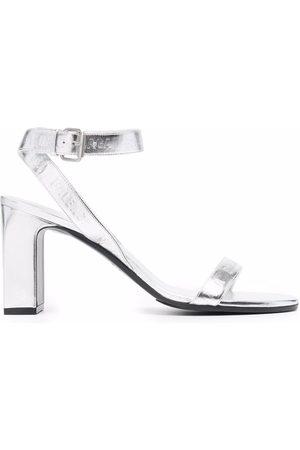 Balenciaga Mujer Sandalias - Sandalias con acabado metalizado