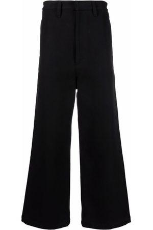 AMI Paris Hombre Anchos y de harem - Pantalones anchos con parche del logo