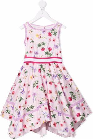 MONNALISA Niña Estampados - Floral print asymmetric dress