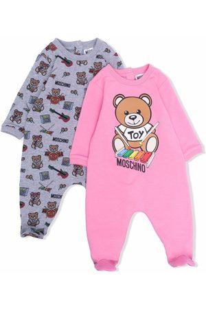 Moschino Kids Pijamas - Teddy bear print babygrow set
