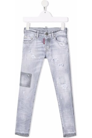 Dsquared2 Kids Niño Jeans - Faded slim-cut jeans