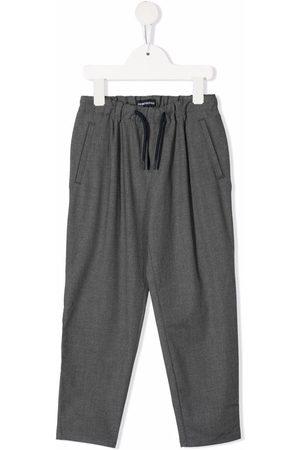 Emporio Armani Straight-leg drawstring trousers