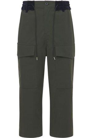 SACAI Hombre Cargo - Pantalones Cargo De Algodón Oxford