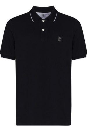 Brunello Cucinelli Hombre Polos - Logo-embroidered polo shirt