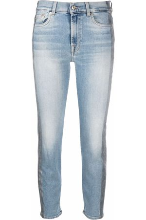 7 for all Mankind Distressed-effect slim-cut cropped jeans