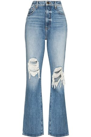 Khaite Mujer Rectos - Danielle high-waisted distressed jeans