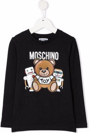 Moschino Niño Playeras manga larga - Logo-print long-sleeve T-shirt