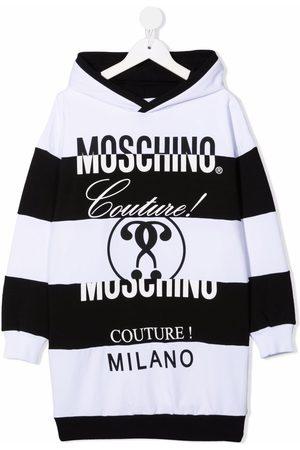 Moschino Kids Vestido con capucha y logo