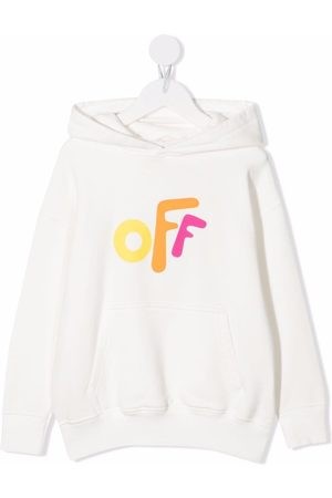 Off-White Kids Niña Con capucha - OFF ROUNDED HOODIE WHITE MULTICOLOR