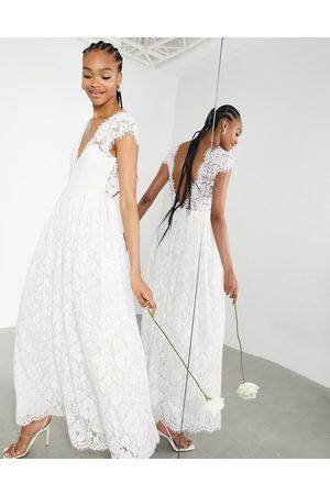ASOS Alexandra cap sleeve v neck lace wedding dress