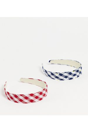 My Accessories London Exclusive headband multipack x 2 in gingham