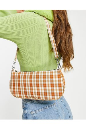 My Accessories London 90's shoulder bag in check print