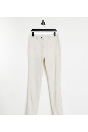 Gianni Feraud Tall Wedding linen slim fit cropped suit trousers