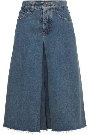 MAISON MARGIELA Falda Pantalón Midi De Denim Algodón