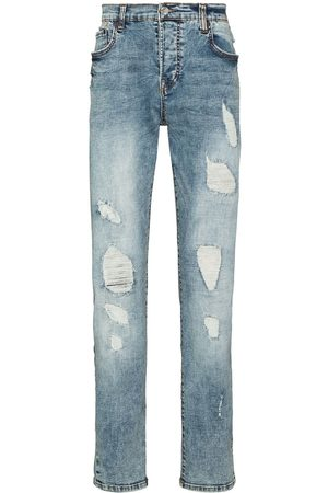 True Religion Distressed ripped slim-fit jeans