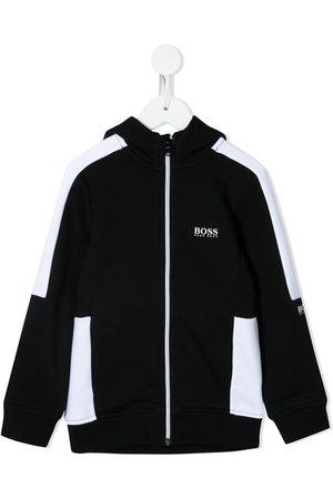 HUGO BOSS Niño Bomber - Two-tone zip-up jacket