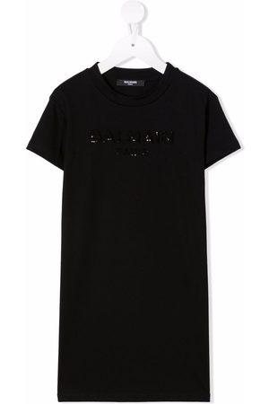 Balmain Sequined cotton T-shirt dress
