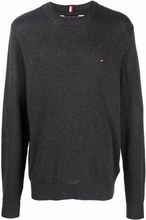 Tommy Hilfiger Hombre Suéteres cerrados - Organic cotton logo-patch jumper