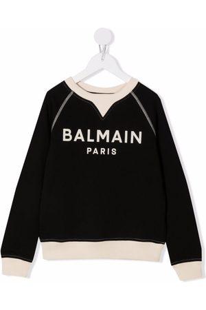 Balmain Logo-print cotton sweatshirt