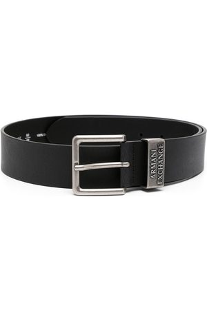 Armani Hombre Cinturones - Logo-embossed leather belt