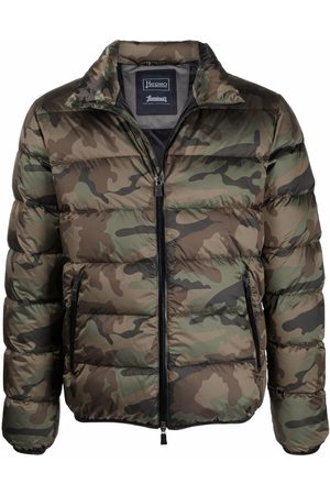 HERNO Hombre Chamarras - Camouflage-print hooded padded jacket