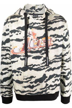 Roberto Cavalli Hombre Con capucha - Hoodie con estampado de tigre