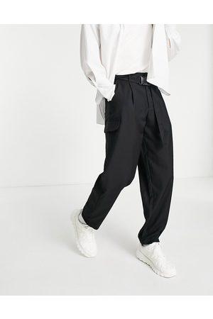 Bando Rudie wide leg pleated utility trousers