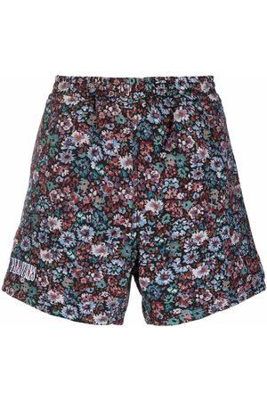 Pleasures Hombre Bermudas - Floral-print straight-leg shorts