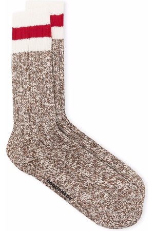 Dsquared2 Hombre Calcetines - Striped detail ankle socks