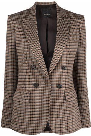 Pinko Mujer Sacos - Peak lapel checked blazer
